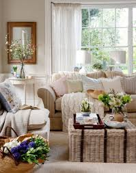 Living Room Colors With Brown Furniture Neutral Traditional Living Room With Wicker Trunk Cottage Encore