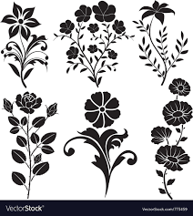decorative flower flowers decorative royalty free vector image vectorstock