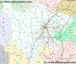China Province Map Sichuan Province China Overview Map 2 By Chinareport Com