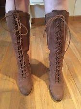 s lace up boots australia ugg australia s suede lace up knee high boots ebay