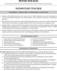 Sample First Year Teacher Resume by Teacher Resume Elementary Teacher Sample Resume