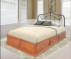 space saver platform drawer bed queen size u2013 headboard not