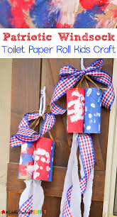 patriotic windsock toilet paper roll kids craft