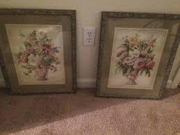 home interiors picture frames vintage home interiors 34 x 28 vase and fruit picture signed d