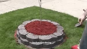 video building a raised island garden bed w retaining wall