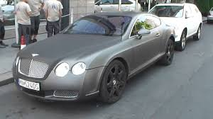 bentley mulsanne matte black matt grey bentley continental gt walkround youtube