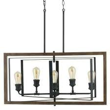 Light Fixture Collections Palermo Grove Collection 5 Light Black Gilded Iron Linear