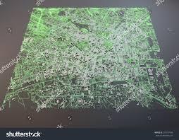 Satellite View Maps Milan Map Satellite View Map Negative Stock Illustration 279747548