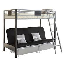 Full Over Full Futon Bunk Bed by Venetian Worldwide Cletis Iii Twin Over Futon Bunk Bed Silver