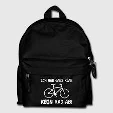 sprüche taschen fahrrad sprüche motiv rucksack spreadshirt
