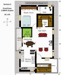 Download Duplex House Plans For 30 50 Site East Facing Adhome 1 Bhk Duplex House Plans