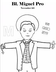 bl miguel pro coloring page saints to color