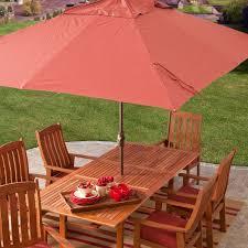 8 Patio Umbrella 8 X 11 Ft Rectangle Patio Umbrella With Orange Terracotta