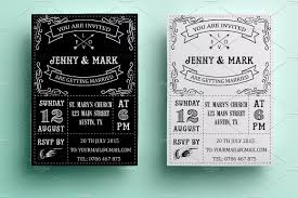 vintage wedding invitation retro wedding invitation invitation templates creative market