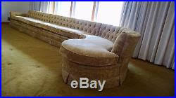 Henredon Sectional Sofa Vintage Sofa Early 1970s Two Piece Henredon Curved Sectional Gold