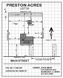 residential site plan kankakee county planning department