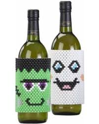 wine bottle wraps amazing savings on herrschners trick or treat wine bottle