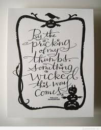 spooky scary halloween quote with william shakespeare