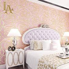 online shop embossed nonwoven flower wallpaper 3d design for