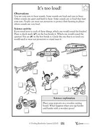 worksheets vibrations and sound first grade google search