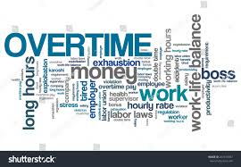 Tired Work Hours Overtime Employment Issues Concepts Word Cloud Stock Illustration