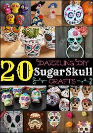 20 dazzling diy sugar skull crafts sugar skull crafts sugar