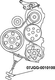 2007 2008 honda fit 1 5l serpentine belt diagram