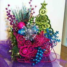 sleigh christmas table arrangement all from hobby lobby