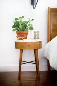 charming round side tables for bedroom with best ideas about