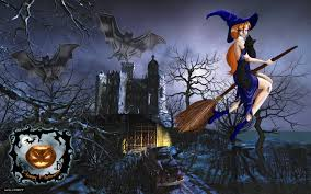 halloween wallpaper widescreen witch wallpapers desktop wallpapersafari