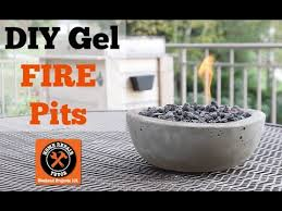 How To Make A Table Fire Pit - build cool diy gel fire pits by home repair tutor youtube