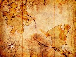 treasure map treasure map with a compass on it stock photo picture and royalty