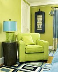 BlueGreen Interior Color Schemes Living Room Decorating - Green color for living room