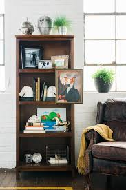 Living Room Bookcases artfully styled bookcases