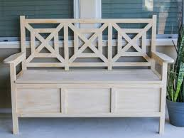 Build Outdoor Storage Bench Plans by How To Build An Outdoor Bench With Storage Hgtv
