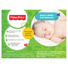 Lullaby Crib Mattress Fisher Price Sweet Lullaby Foam Crib Mattress Walmart