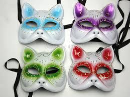 venetian masks bulk 2 pieces colored drawing mask catwomen half