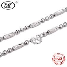 mens chain necklace silver images Wk 100 925 sterling silver men chain necklace 4mm 5mm 6mm 18 20 jpg