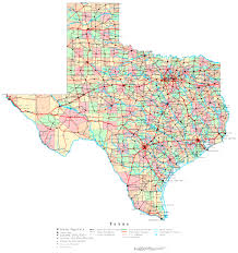 Van Texas Map Texas Labeled Map
