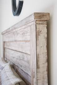 White Wooden Headboard White Rustic Headboard Diy Projects