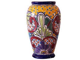 Classic Vases Talavera Vase Handcrafted Talavera Vase From Mexico Craft Montaz