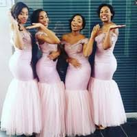 cheap peach mermaid bridesmaid dresses free shipping peach