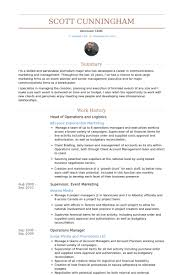 Logistics Resume Examples by Head Of Operations Resume Samples Visualcv Resume Samples Database