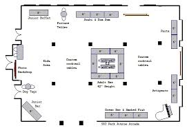 bar floor plans arcade floor plans venue floor plans 583 park avenue
