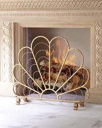 Decorative Fireplace by Italian Gold Iron Shell Decorative Fireplace Screen