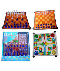 arthr magnetic chess board family game 13 in 1 buy online at best
