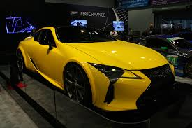 lexus yellow world u0027s first tuned lexus lc 500 debuts autoguide com news