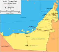map of the uae united arab emirates map and satellite image