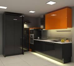 modern black kitchens kitchen design modern small kitchen design with orange wall