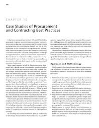 chapter 10 case studies of procurement and contracting best
